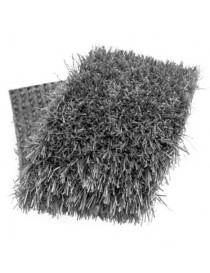 Gazon synthétique couleur gris foncé 20 mm